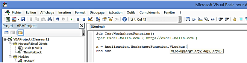 Worksheetfunction Quand Et Pourquoi L'utiliser Excelmalin. Worksheetfunction Arguments En Diteur Vba. Worksheet. Excel Vba Worksheetfunction Days360 At Mspartners.co