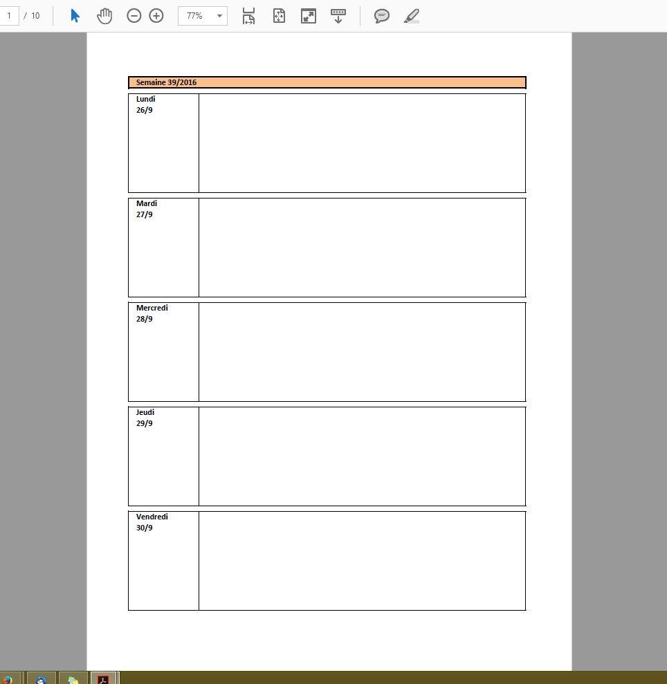 Semainier Planning Excel Modifiable Et Gratuit Excel Malin Com